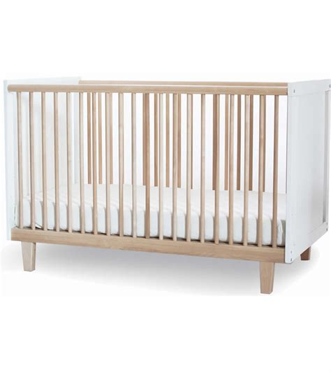 White Baby Cribs Oeuf Rhea Crib In Birch White
