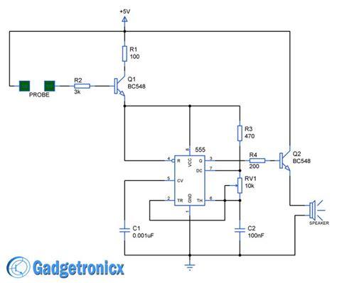 working of alarm circuit using timer ic 555