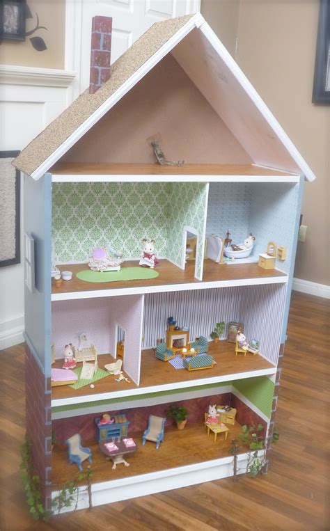 dollhouse bookcase cottage brick row house