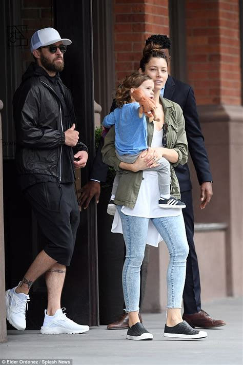 jessica biel and justin timberlake stroll with son silas