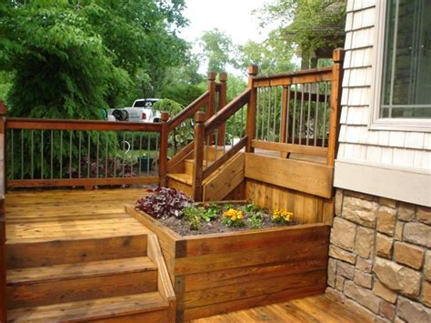 backyard decks wooden flower boxes are a great ide