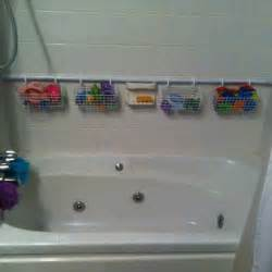 diy shower caddy for bath toys