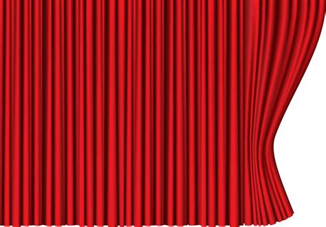 transparent curtains re red curtain png