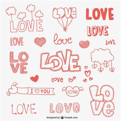 imagenes de i love you tumblr conjunto de dibujos de amor descargar vectores gratis