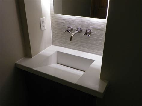 powder room sink integral concrete sinks