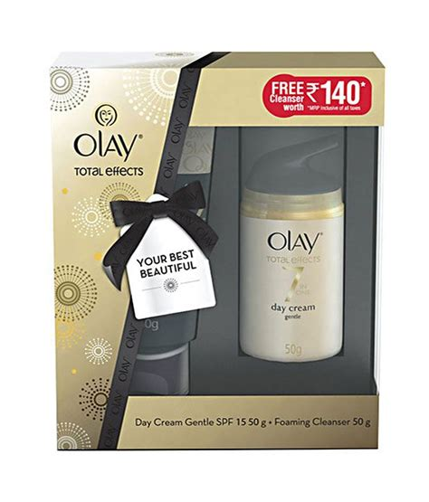 Olay Total Effects Day Gentle Spf 15 olay total effects gentle day gentle spf 15 50gm free foaming cleanser 50 gm buy olay