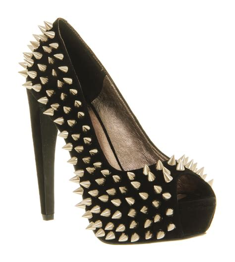 high heels with spikes womens jeffrey cbell during spike high heel black suede