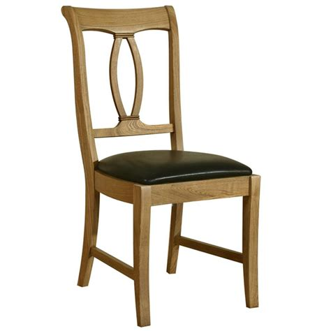 Oak Wood Dining Chairs Loire Solid Oak Wood Dining Chair Gardener