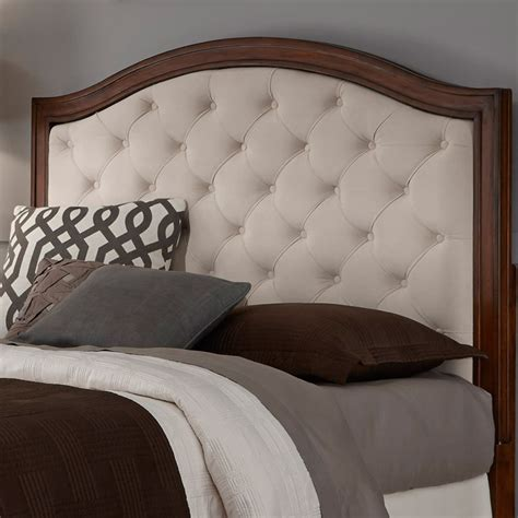 home styles castaway upholstered panel home styles duet diamond camelback upholstered panel bed