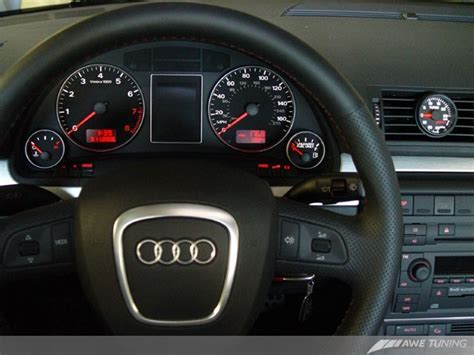 electric power steering 2006 audi a4 instrument cluster 1410 11024 awe tuning vent boost gauge kit b7 audi a4