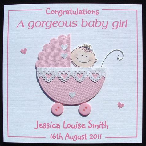 New Baby Handmade Cards - new baby card new baby card personalised handmade new