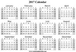 Calendar 2017 Schedule 2017 Calendar
