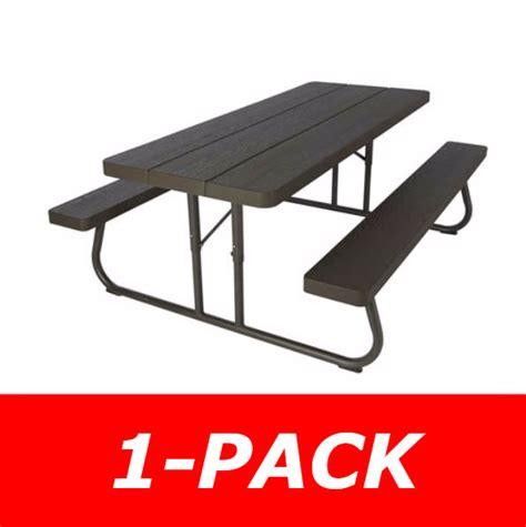 Lifetime 6 Folding Picnic Table Lifetime 60228 Faux Wood Brown Color Picnic Table On Sale With Fast Free Shipping