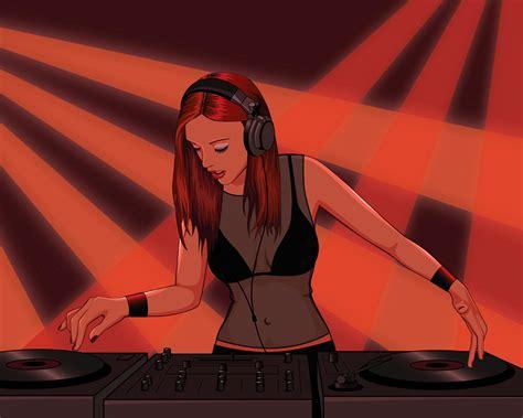anime girl dj wallpaper dj girl vector wallpaper 66749