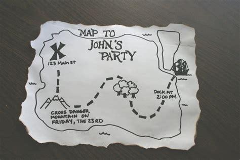 treasure map wedding invitation template wedding