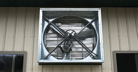 Exhaust Shutter Fan Installation For Electric Factory