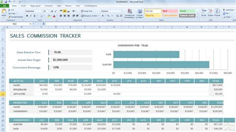 Sales Commission Tracker Template For Excel 2013 Sales Commission Tracker Template For Excel 2013