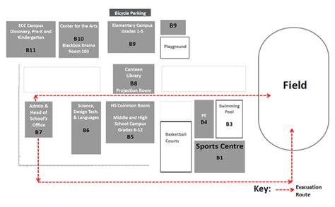 Building Design Plan evacuation plan unis hanoi earthquake preparation plan