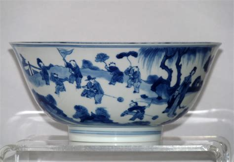 blue and white porcelain kangxi blue and white porcelain 18th century chinese bowl
