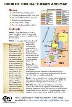 key themes book of joshua a map of ancient israel and judah with references to the