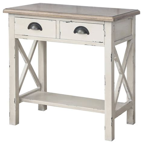 rustic white console table amelia rustic white console table