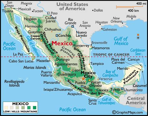 mexco map mexico map