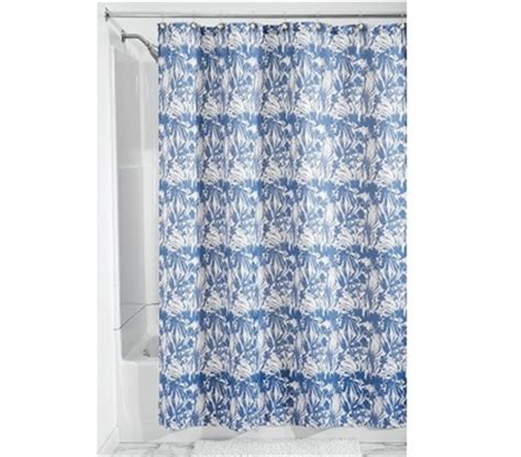 dorm shower curtain floral batik fabric shower curtain blue supplies for