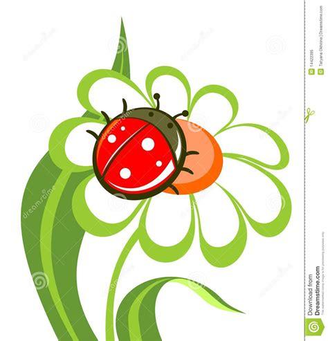 fiore con la s fiore con la coccinella illustrazione vettoriale