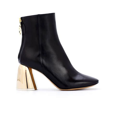 Class Black Boots ellery class ankle boots with gold heel minimal nordic