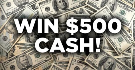 Win Cash Giveaway - win 500 cash giveaway october 2017 giveawaytoday