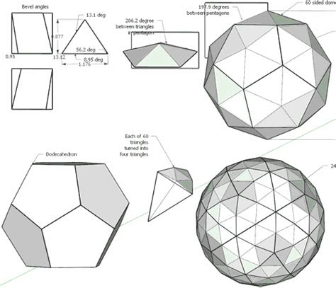 How To Make A Dome Shape Out Of Paper - 60 sided geodesic dome experiment