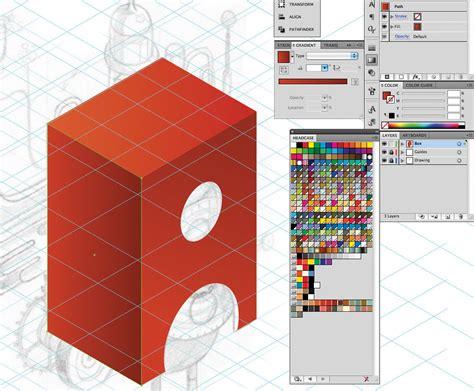 tutorial illustrator isometric adobe illustrator tutorial design retro isometric artwork