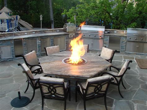 patio furniture with gas pit table lawn garden patio gas pit table and patio