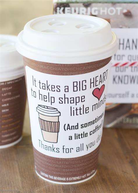 The 5 Minute Coffee Teacher Appreciation Gift   Bren Did