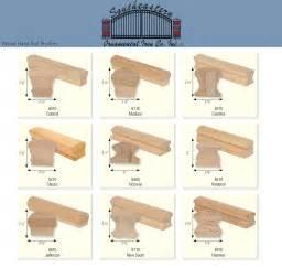 wooden handrail profiles stair rails