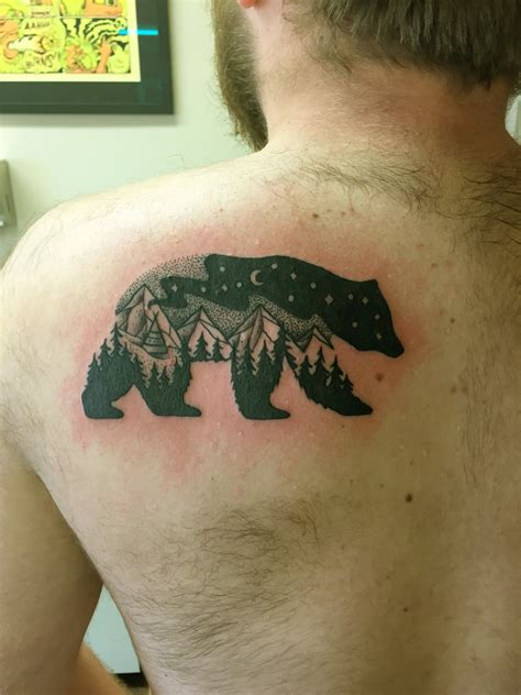 bear tattoo by justin phipps east main ink bozeman