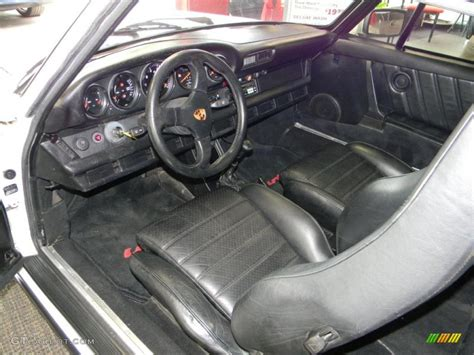 black porsche interior black interior 1980 porsche 911 turbo coupe photo