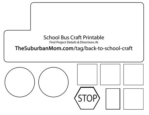 7 best images of school bus printable template school