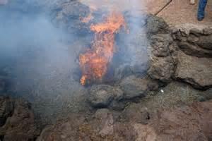 Die unterirdische hitze des timanfaya vulkans reicht noch heute aus