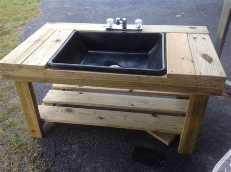 diy outdoor sink station 1000 ideas about outdoor sinks on outdoor