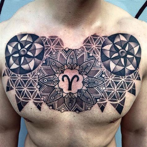 tattoo chest mandala chest mandala best tattoo design ideas