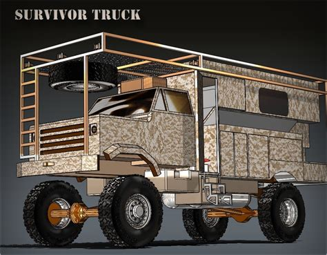 survival truck image jim delozier s survival truck in rendering form