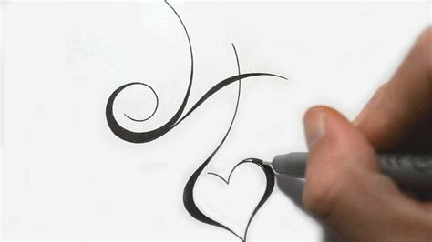 h tattoo designing simple initial h design calligraphy style