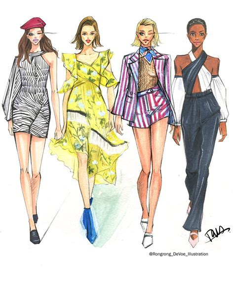 fashion illustration uses fashion and illustrator rongrong devoe freelance