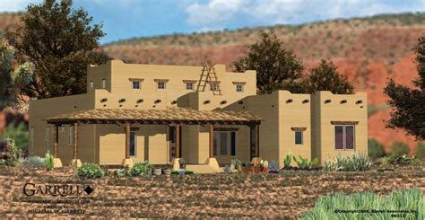 santa fe house plan 06312 front elevation southwestern