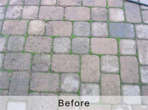 How To Seal Patio Pavers Before And After Gallery Paver Images Pavers Cleaned And Sealed