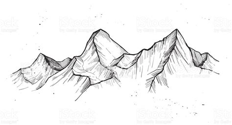 outdoor clipart mountain sketch pencil and in color
