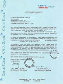 Home Loan Letter Of Guarantee Bank Guarantee