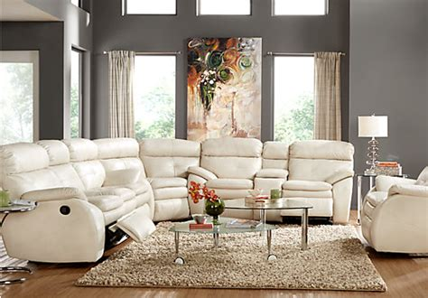 corsica ivory  pc reclining sectional living room