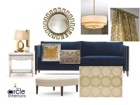 blue and gold living room incircle interiors blue gold living room design board